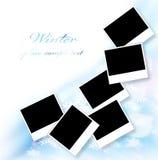 Beira em branco dos frames de retrato Fotos de Stock Royalty Free