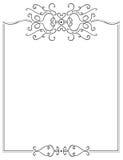 Beira extravagante da página ilustração royalty free