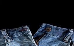 Beira feita das calças da sarja de Nimes Imagens de Stock