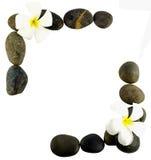Beira feita das pedras pretas Fotos de Stock Royalty Free