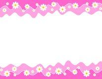 Beira floral Imagens de Stock