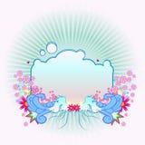Beira floral abstrata ilustração do vetor