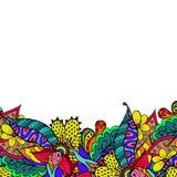 Beira floral colorida da garatuja da mola Foto de Stock