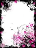 Beira floral de Grunge, vetor Imagem de Stock Royalty Free