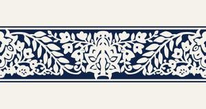 Beira floral do blockprint Imagens de Stock Royalty Free