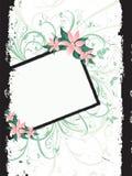 Beira floral do grunge Foto de Stock