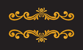 Beira floral do ouro luxuoso elegante do vintage Imagens de Stock