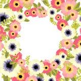 Beira floral do vetor Foto de Stock