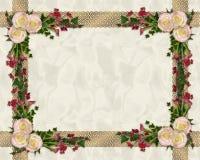 Beira floral exótica das rosas cor-de-rosa ilustração do vetor