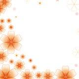 Beira floral para a decoração de canto Fotos de Stock Royalty Free
