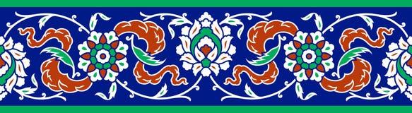 Beira floral para seu projeto Ornamento sem emenda do otomano turco tradicional do ½ do ¿ do ï Iznik ilustração stock