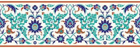 Beira floral para seu projeto Ornamento sem emenda do otomano turco tradicional do ½ do ¿ do ï Iznik ilustração royalty free