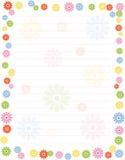 Beira floral/quadro ilustração royalty free