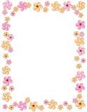 Beira floral/quadro Fotos de Stock Royalty Free