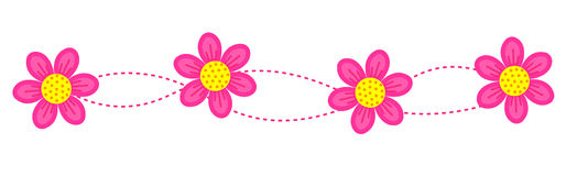Beira floral/quadro/divisor Fotografia de Stock
