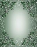 Beira floral sparkling verde Imagem de Stock