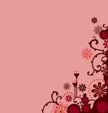 Beira floral vermelha Fotografia de Stock