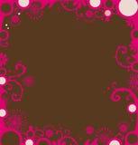 Beira floral vermelha Fotografia de Stock Royalty Free