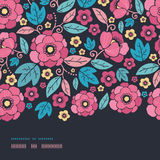 Beira horizontal da flor do quimono da noite sem emenda Imagem de Stock