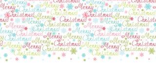 Beira horizontal do texto do Feliz Natal do vetor Imagens de Stock