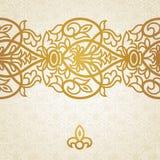 Beira infinita barroco do vetor no estilo vitoriano. Foto de Stock Royalty Free