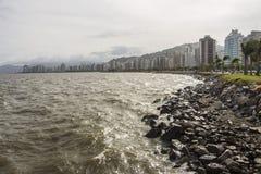Beira Mar aleja SC - Brazylia - Florianopolis - Zdjęcia Royalty Free