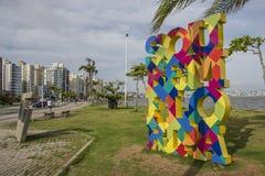 Beira Mar aleja SC - Brazylia - Florianopolis - Zdjęcia Stock