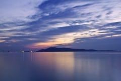 Beira-mar azul Fotografia de Stock