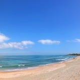 Beira-mar azul Imagem de Stock