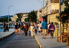 Beira-mar da cidade das férias de verão Fotografia de Stock Royalty Free