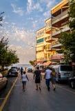 Beira-mar da cidade das férias de verão Foto de Stock Royalty Free