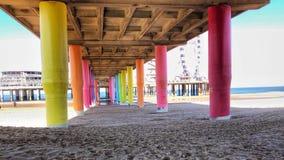 Beira-mar da praia de Colorfull imagem de stock