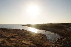 Beira-mar de Chipre Fotos de Stock Royalty Free