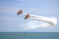 Beira-mar 2016 de Eastbourne das acrobacias de Airshow Imagem de Stock Royalty Free