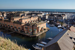 Beira-mar de Inglaterra do porto de Brigghton fotos de stock royalty free