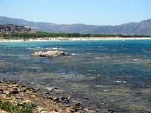 Beira-mar de Santa Lucia! Sardegna Fotografia de Stock