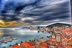 Beira-mar do céu de Hdr Imagem de Stock