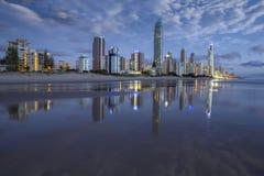 Beira-mar dos surfistas Foto de Stock