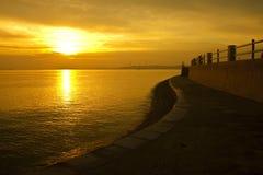 Beira-mar dourado Fotografia de Stock Royalty Free