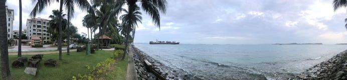 Beira-mar em Singapura imagens de stock