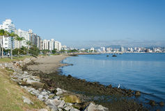 Beira Mar, Florianopolis. Florianopolis is an island and the capital city of Santa Catarina, a state in Southern Brazil. Florianopolis, also know as Floripa is Stock Photos