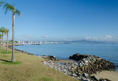 Beira Mar, Florianopolis. Florianopolis is an island and the capital city of Santa Catarina, a state in Southern Brazil. Florianopolis, also know as Floripa is Royalty Free Stock Image