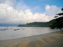 Beira-mar na ilha de pangkor, Malásia Imagem de Stock Royalty Free