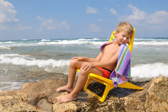 Beira-mar na rocha Imagens de Stock Royalty Free