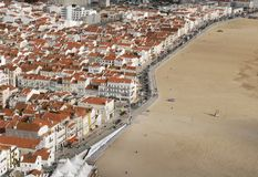 Beira-mar - praia de Nazare Fotos de Stock