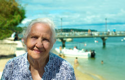 Beira-mar superior de sorriso Foto de Stock Royalty Free