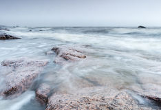 Beira-mar ventoso Fotografia de Stock Royalty Free