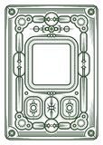 Beira ou frame abstrato Espaço branco no centro Imagens de Stock Royalty Free