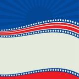 Beira patriótica americana, fundo, com estrelas ilustração stock