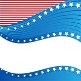 Beira patriótica americana, fundo, com estrelas ilustração royalty free